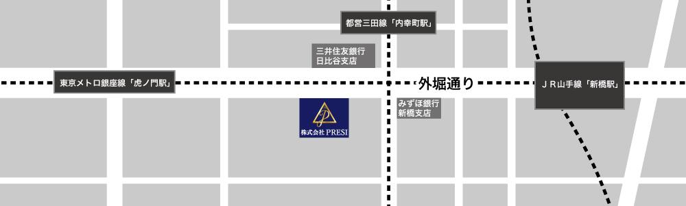 PRESI建設のマップ